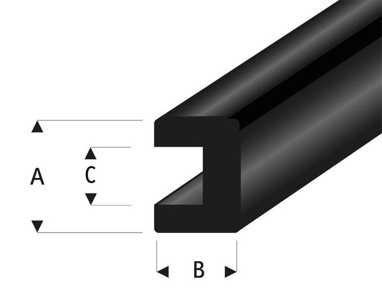 raboesch gummi u profil 2x2 mm l 2 m kr rb104 50. Black Bedroom Furniture Sets. Home Design Ideas