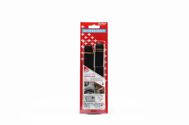 fastech klettband selbstklebend schwarz 25x1000mm je 1 mikrohaken und flauschband r 50590015. Black Bedroom Furniture Sets. Home Design Ideas