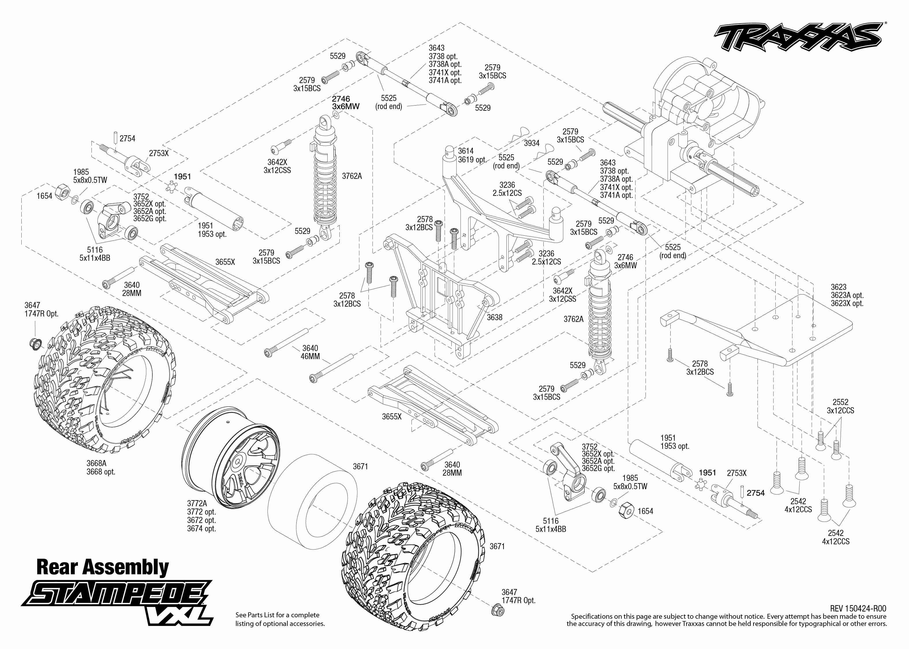 traxxas stampede parts diagram