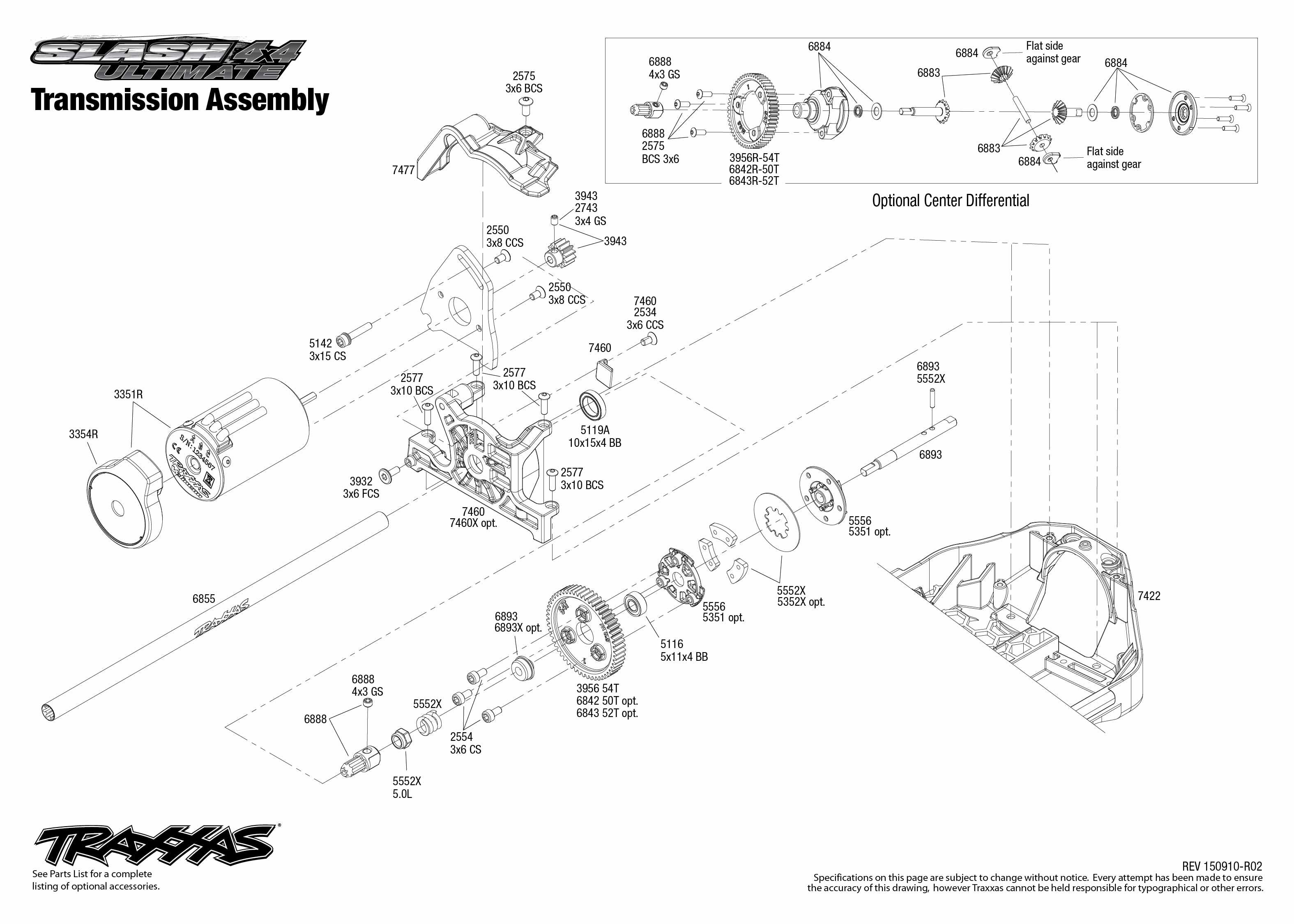 traxxas traxxas slash 4x4 ultimate rtr  lcg chassis  mit tsm  trx68077